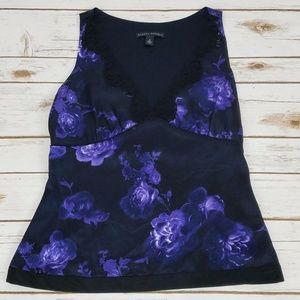 Banana Republic Purple Silk Lace Camisole Top Sz 2